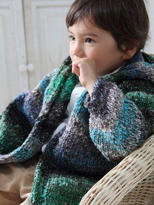 Noro yarn, Kogarashi hoodie for a boy.