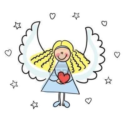 Angel vector. Guardian cliparts stock and