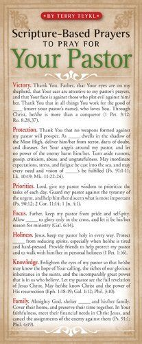 Scripture-Based Prayers to Pray for Your Pastor 50-pack Price : $9.99 http://www.navpress.com/Scripture-Based-Prayers-Pray-Pastor-50-pack/dp/1576839060