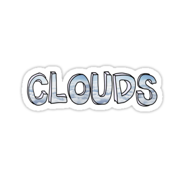 Clouds one direction stickers by madeoflightingg redbubble