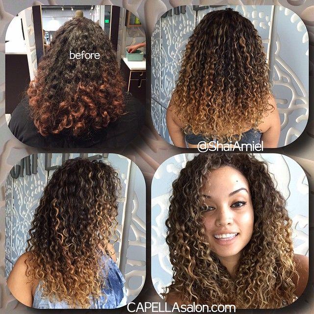 Highlights On Curly Hair By Shai Amiel Hair By Shai Amiel