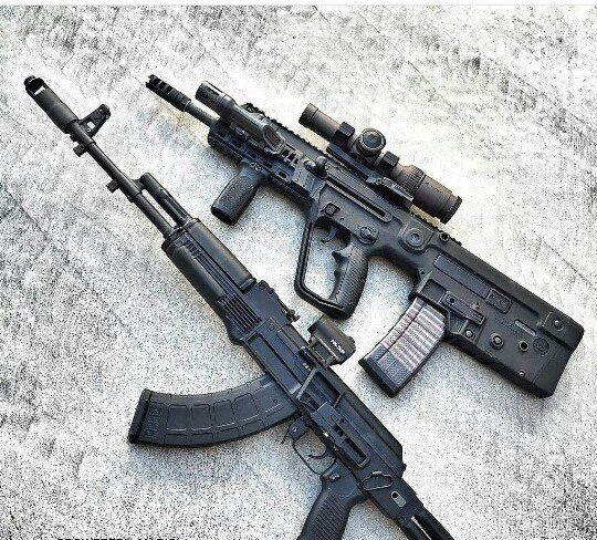 Tavor and AK-107