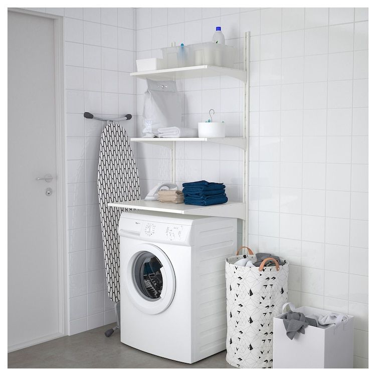 Pin By Nathy On Gretel In 2020 Laundry Room Storage Shelves Ikea Algot Laundry Room Storage