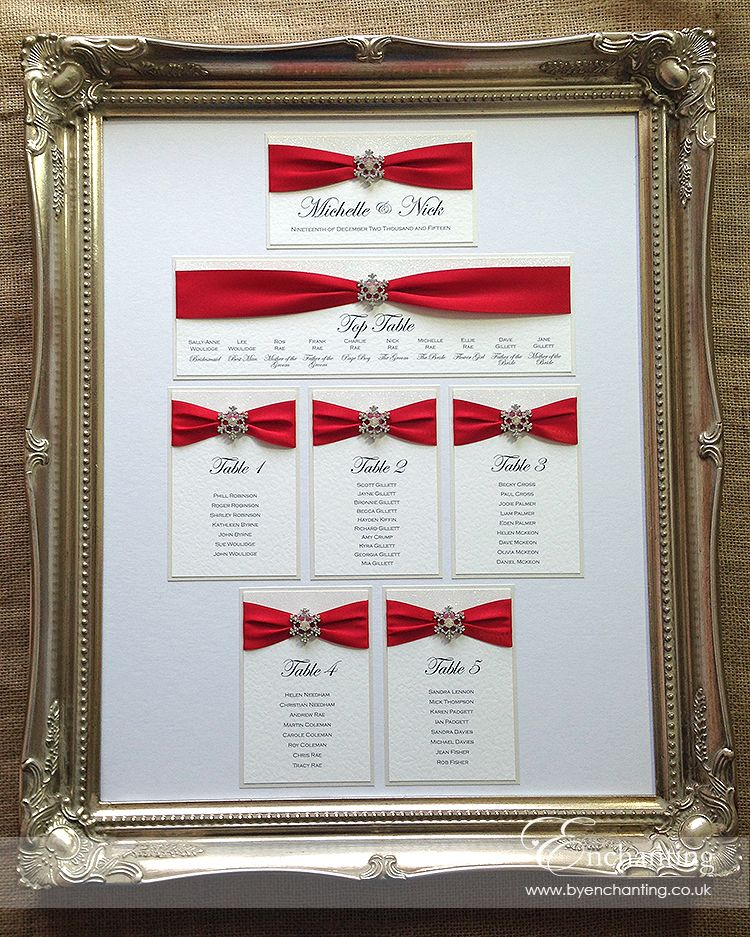 Red Winter Wedding Stationery For Michelle & Nick