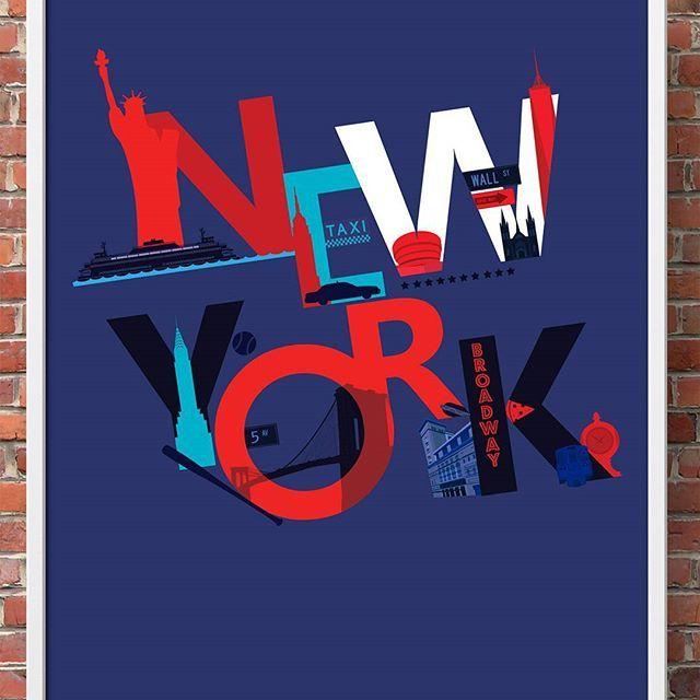 New York, New York! Continuando a viagem do Projeto Cidades, uma das capitais mais influentes na economia e cultura do planeta. #olhaesse #projetocidades #newyork #design #newyorkcity #poster