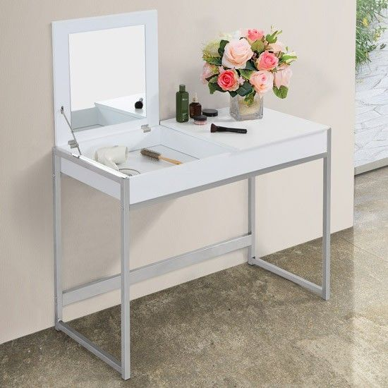 Miadomodo Make Up And Dressing Table With Mirror In White Shop At