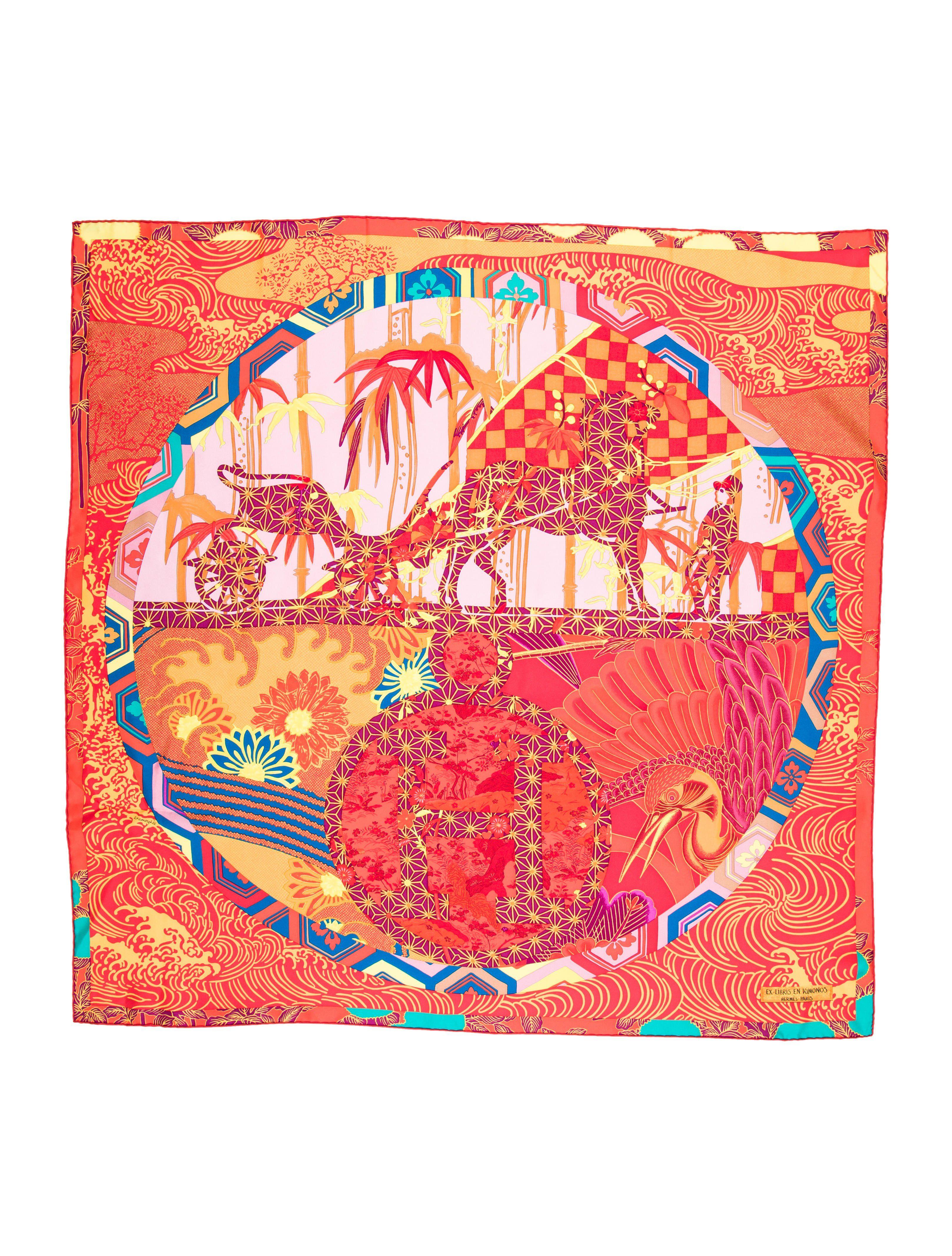74752a7e28e7 Hermès - Ex Libris en Kimono   Silks⚜️Bombers   Hermès, Designer ...