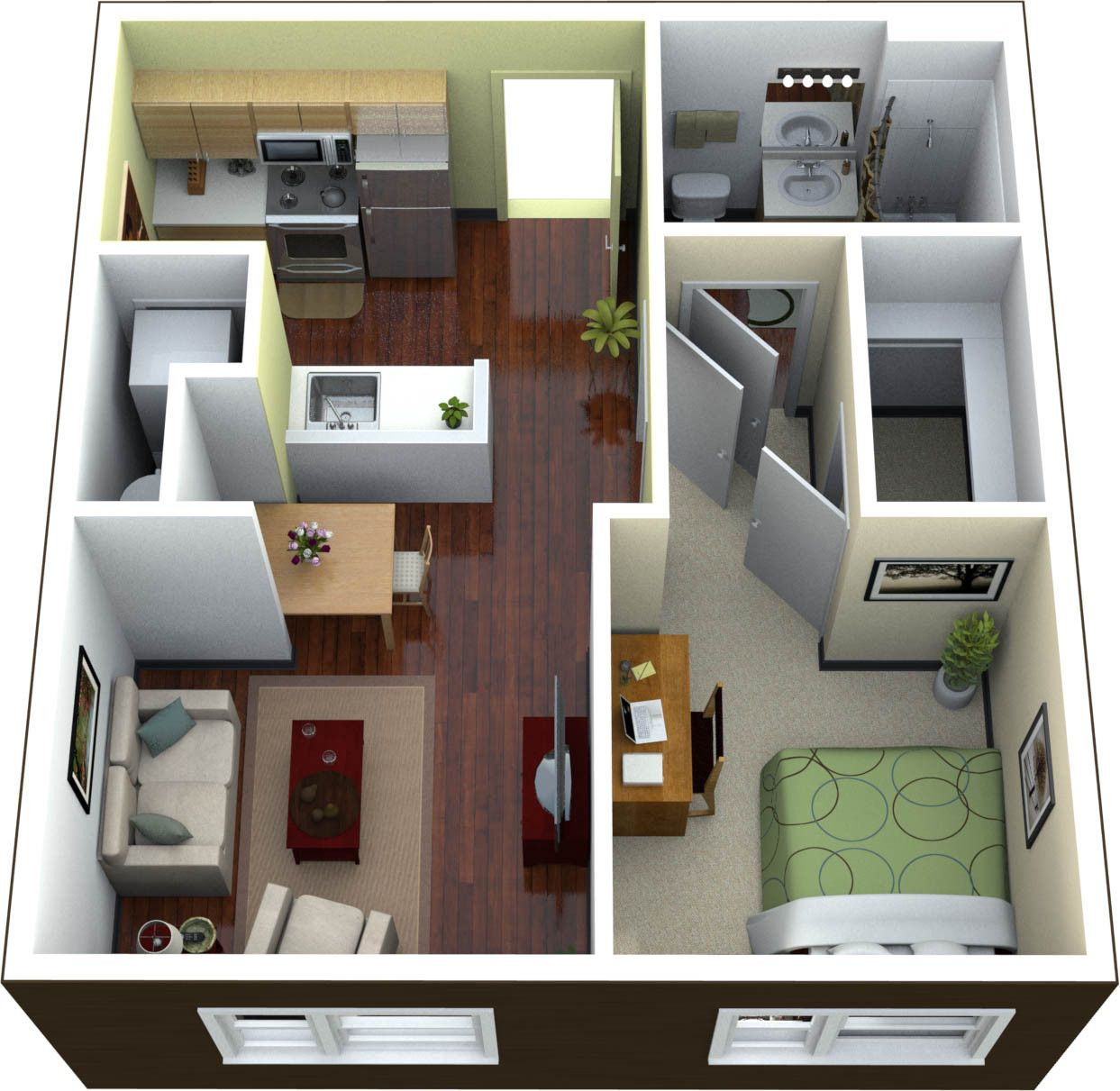 Modern concept beautiful one bedroom apartments on interior decor with apartment also rh pinterest