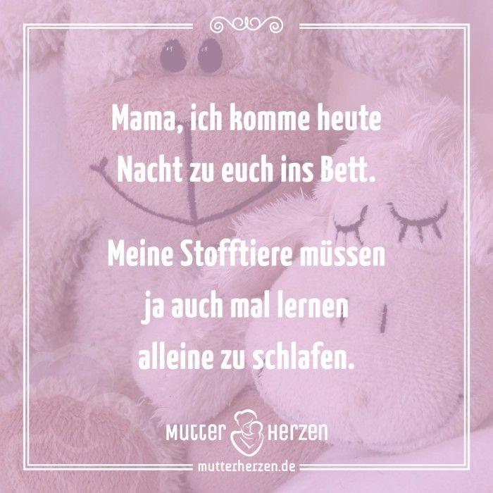 Mehr süße Sprüche auf: www.mutterherzen.de #schlafen #bett ...