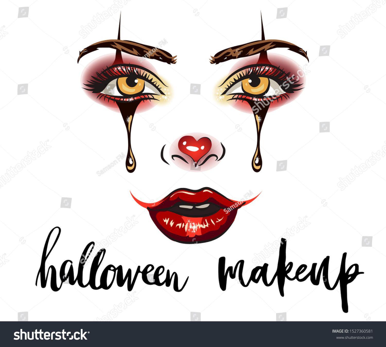 Makeup artist business card template. Vector hand drawn