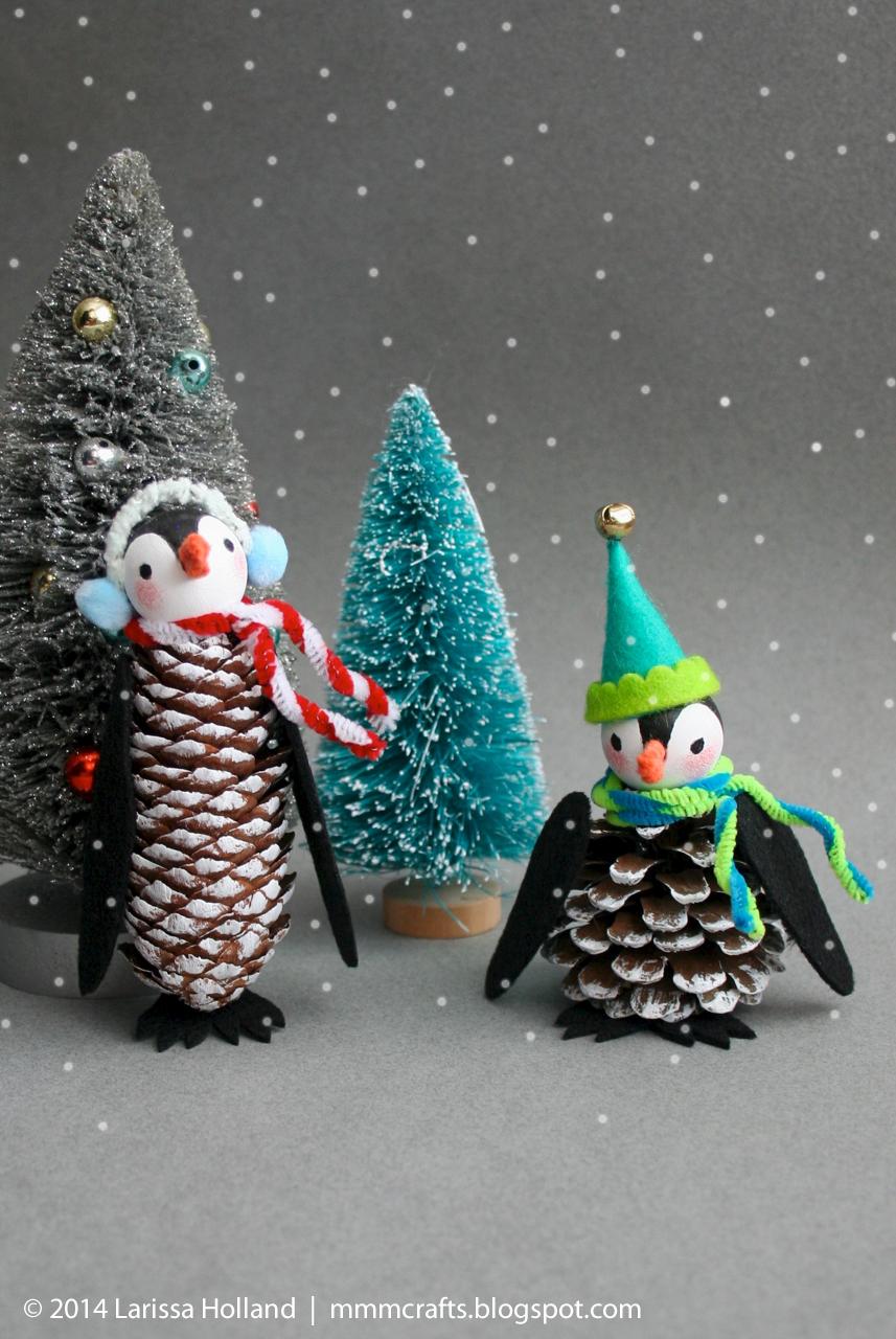 Adornos con pi as buenas ideas diy navidad manualidades navidad y decoracion navidad - Decoraciones de navidad manualidades ...