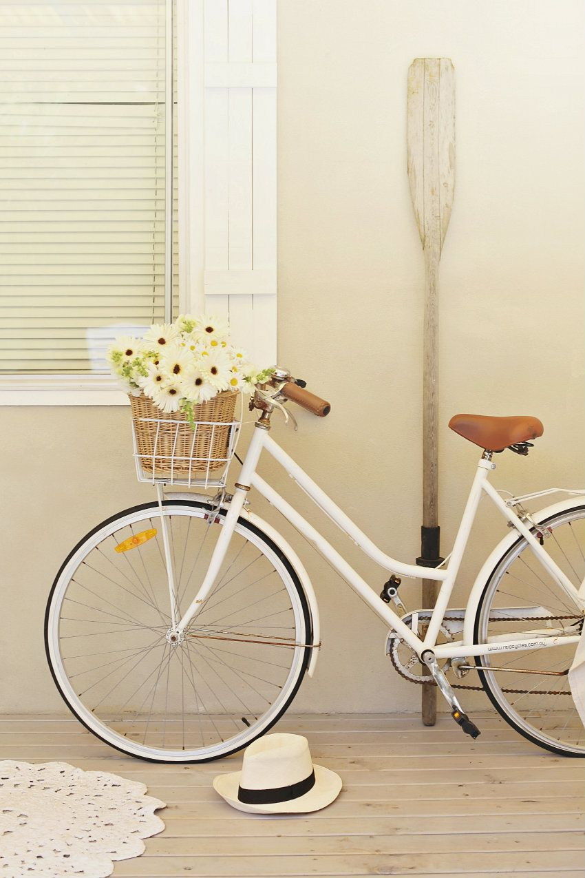 A Resolution And A White Vintage Bike Life By The Sea White Bike Vintage Bike Bicycle