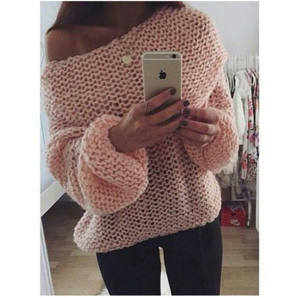 sweater knitted sweater oversized sweater oversized sweater pink ...
