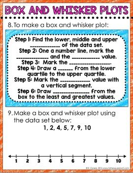 Box And Whisker Plot Digital Math Notes Math Notes Math Math Interactive Notebook