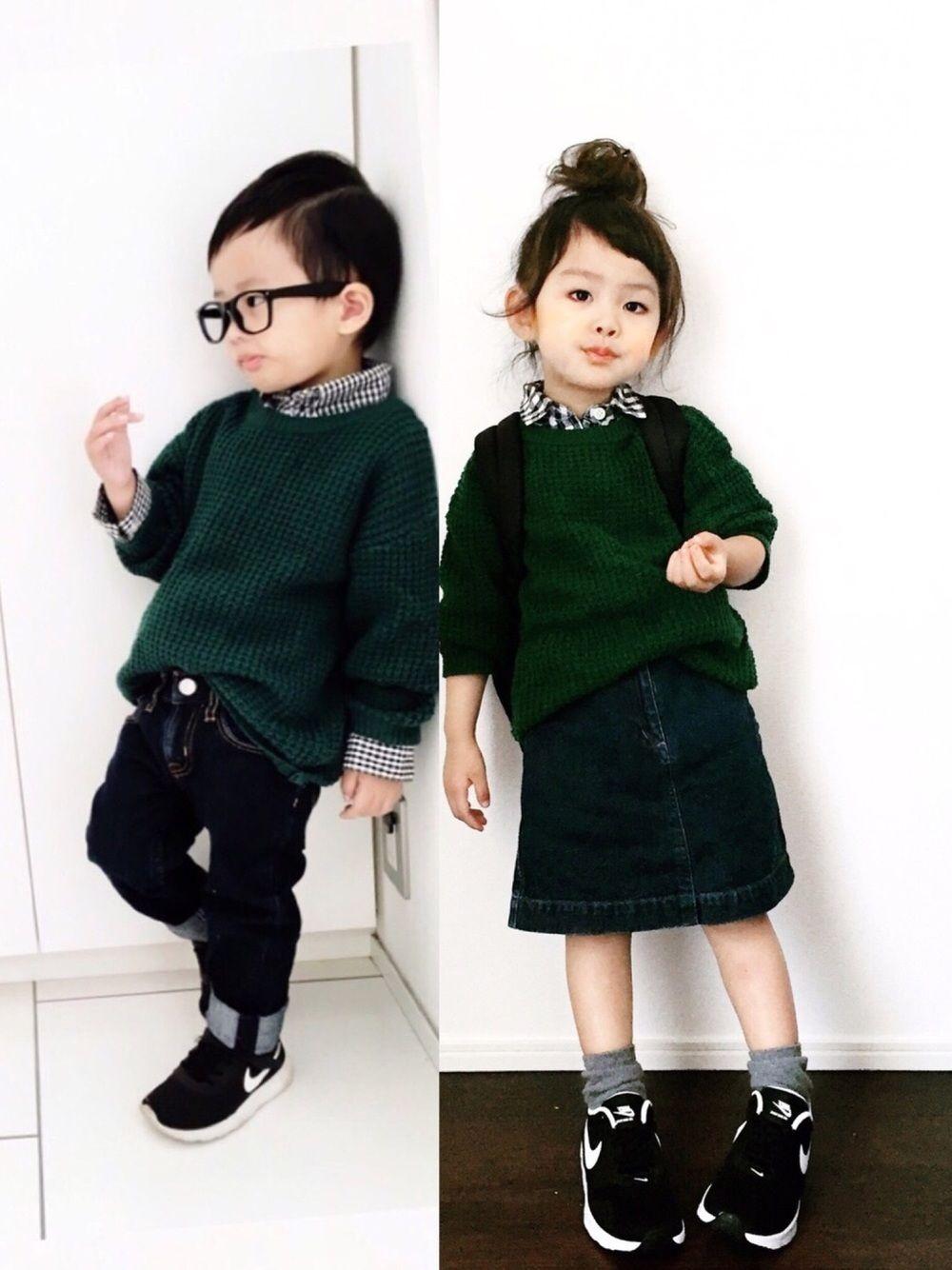 Nana Nikeのスニーカーを使ったコーディネート キッズファッション キッズスタイル 男の子 ファッション