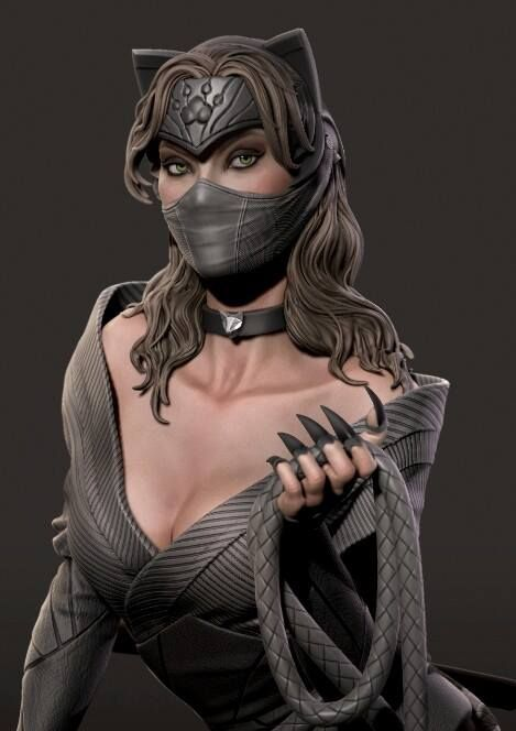 We replace the more classical XM Catwoman head (unmasked) design with the more japanese style design (masked) ….