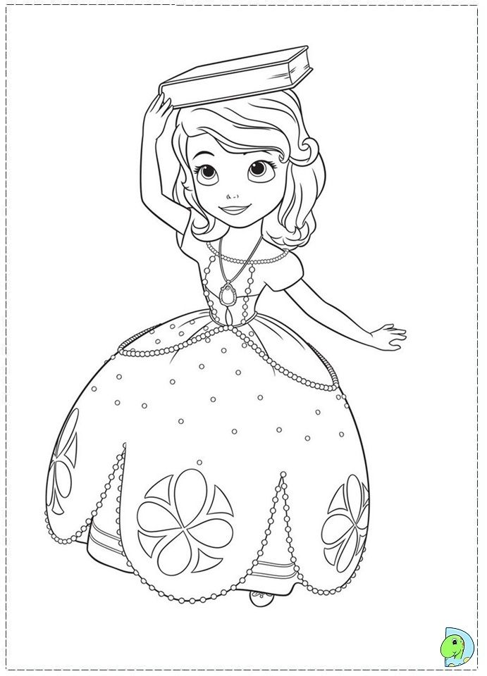 Sofia The First Coloring Pages Princess