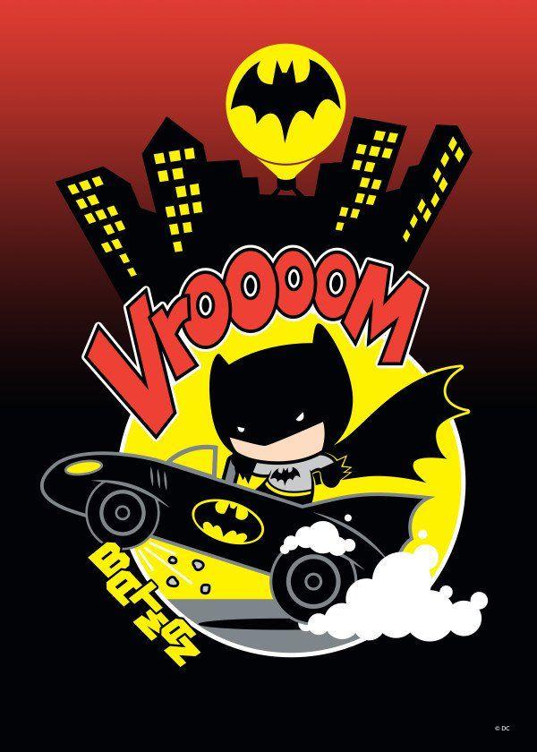 Batman Batmobile Chibi Batman Cartoon Batman Chibi Batman Comic Poster
