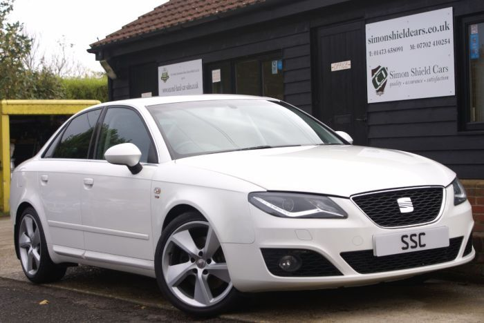 Seat Exeo 2.0 TDI CR Sport Tech 4dr [170] Saloon Diesel Candy White for sale at http://www.simonshieldcars.co.uk/used/seat/exeo/20-tdi-cr-sport-tech-4dr-170/ipswich/suffolk/17495097