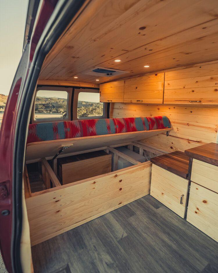 Van Conversion Interior Camper, Econoline Laminate Flooring