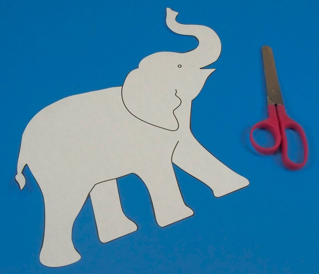 Elephant Stencil Trunk Up Indian elephant drawin...