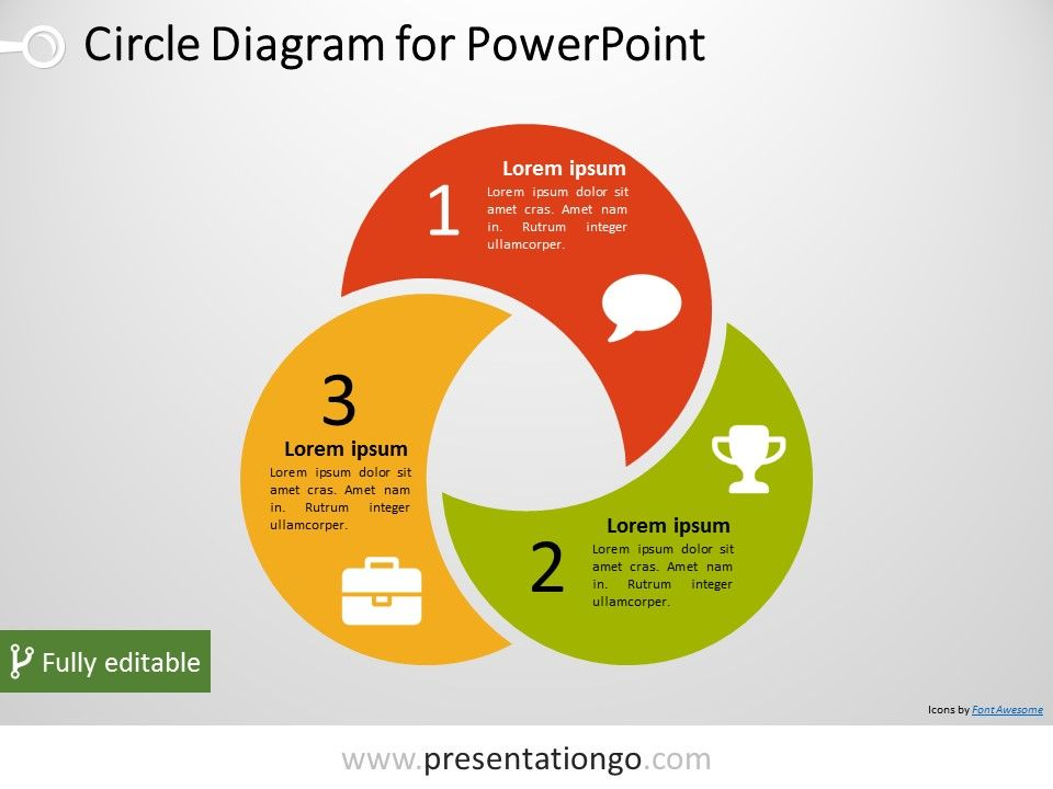 Free 3D process flow diagram for PowerPoint with colored 3D shapes ...