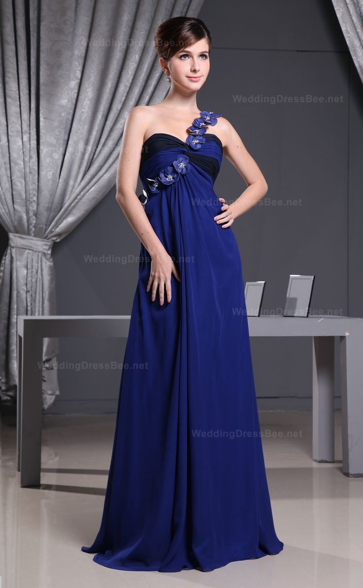 Wedding gown color blue  Charming Hearsease Flower Chiffon Dress  Dresses  Pinterest