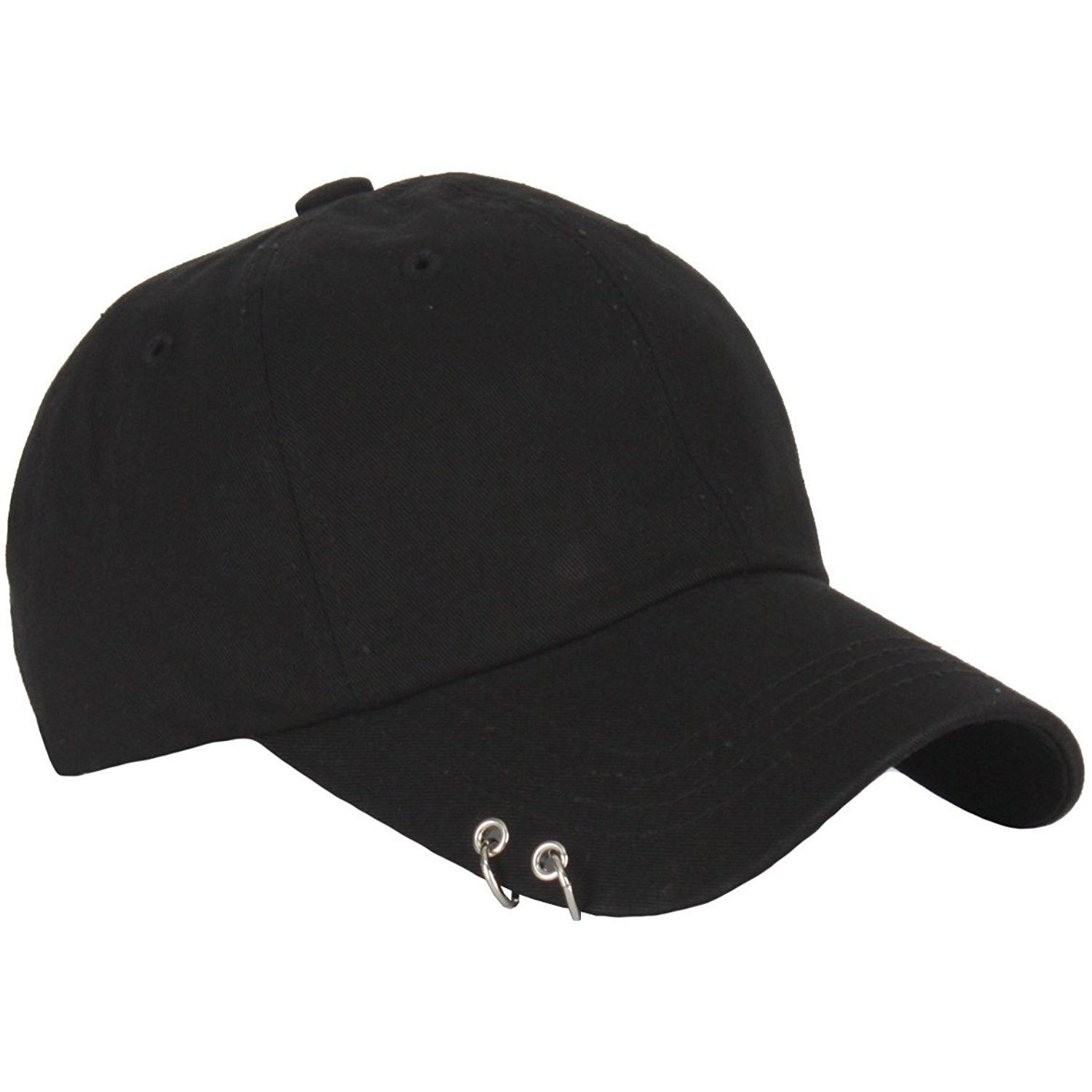 Men Women Ring Stud Baseball Cap Punk Piercing Design Curved Hat Adjustable  TCB1  9930afc04466