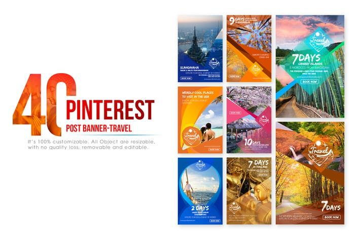 40 Pinterest Banner-Travel by Wutip on Envato Elements
