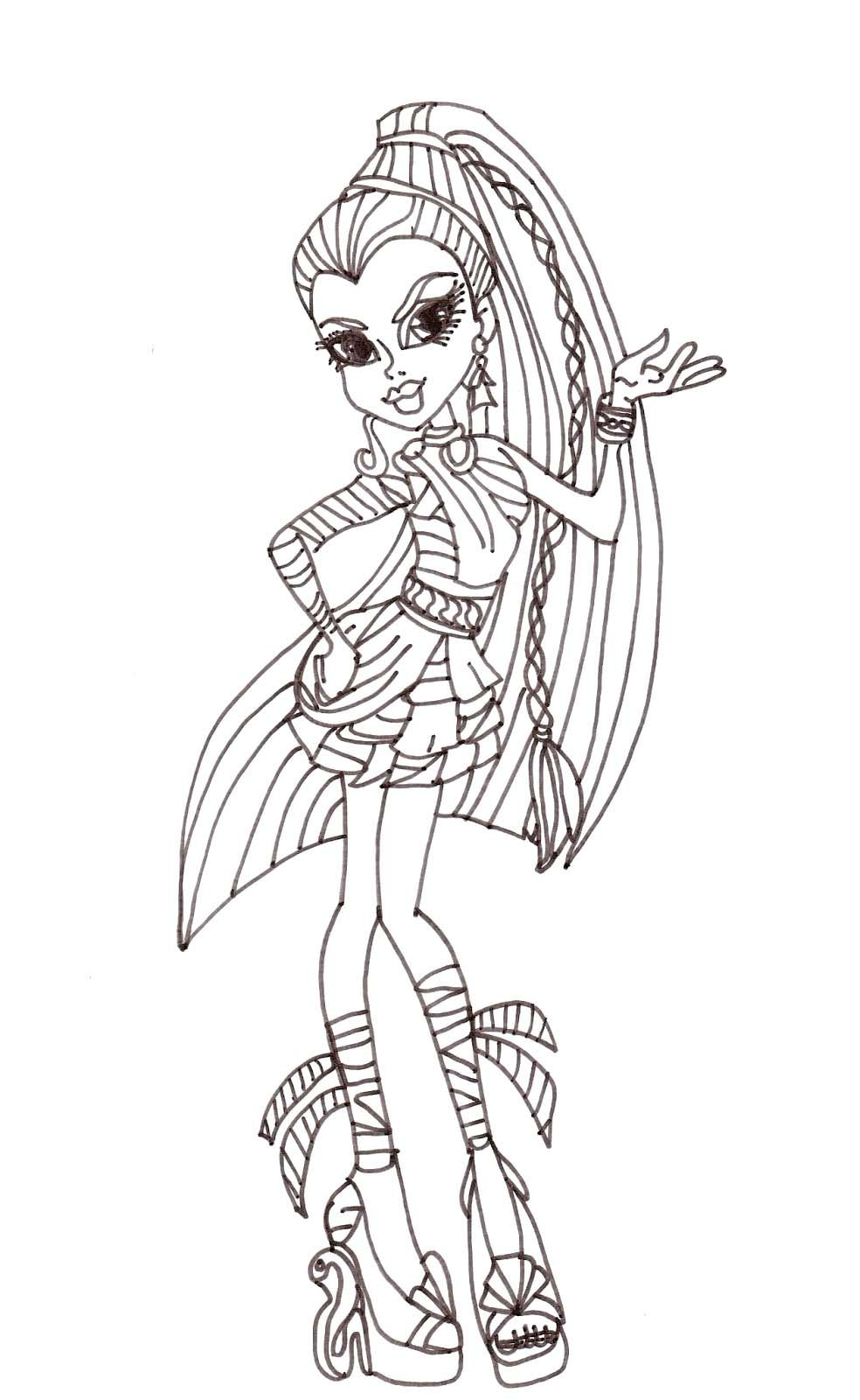 pictures nefera de nile monster high coloring pages