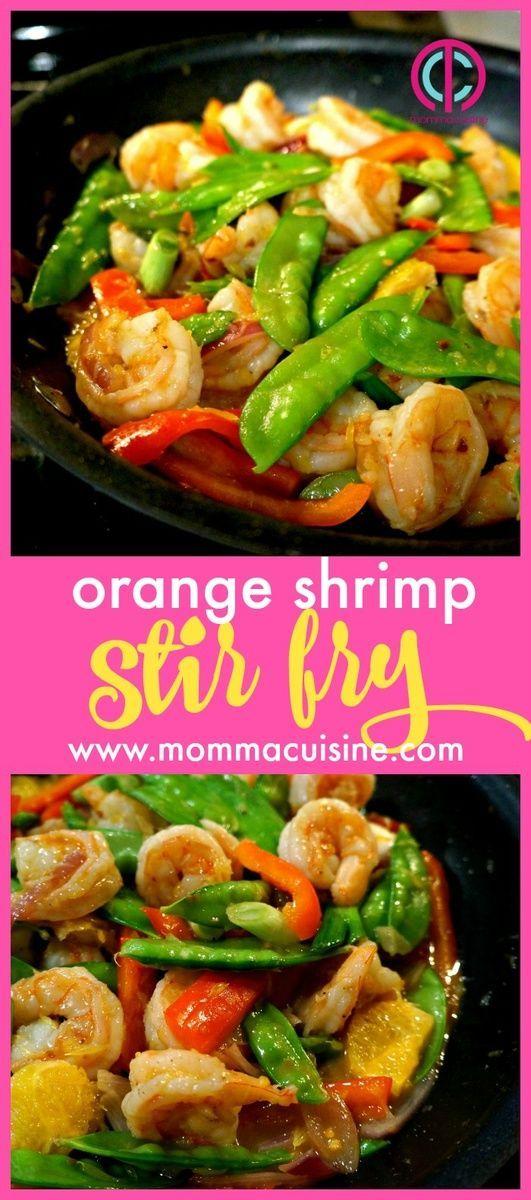 Orange Shrimp Stir Fry