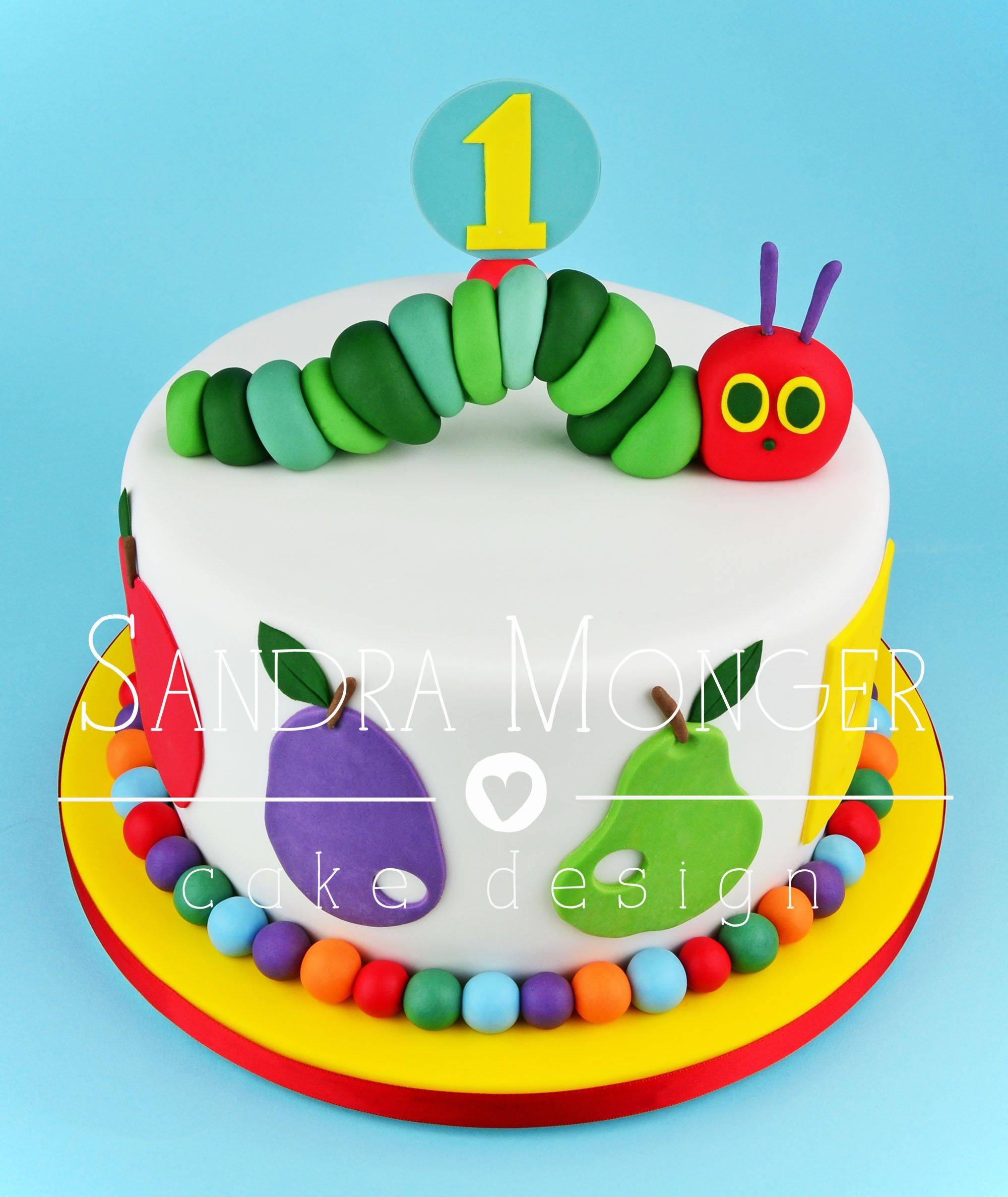 Brilliant Hungry Caterpillar Birthday Cake Hungry Caterpillar Cake Personalised Birthday Cards Veneteletsinfo