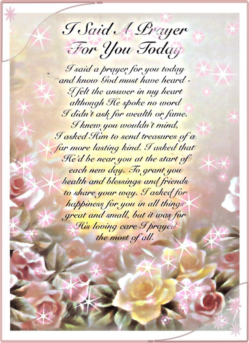 words to i said a prayer for you today  English (US)  Prayer for