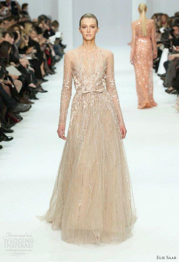 Cap Sleeve Wedding Dresses by Elie Saab