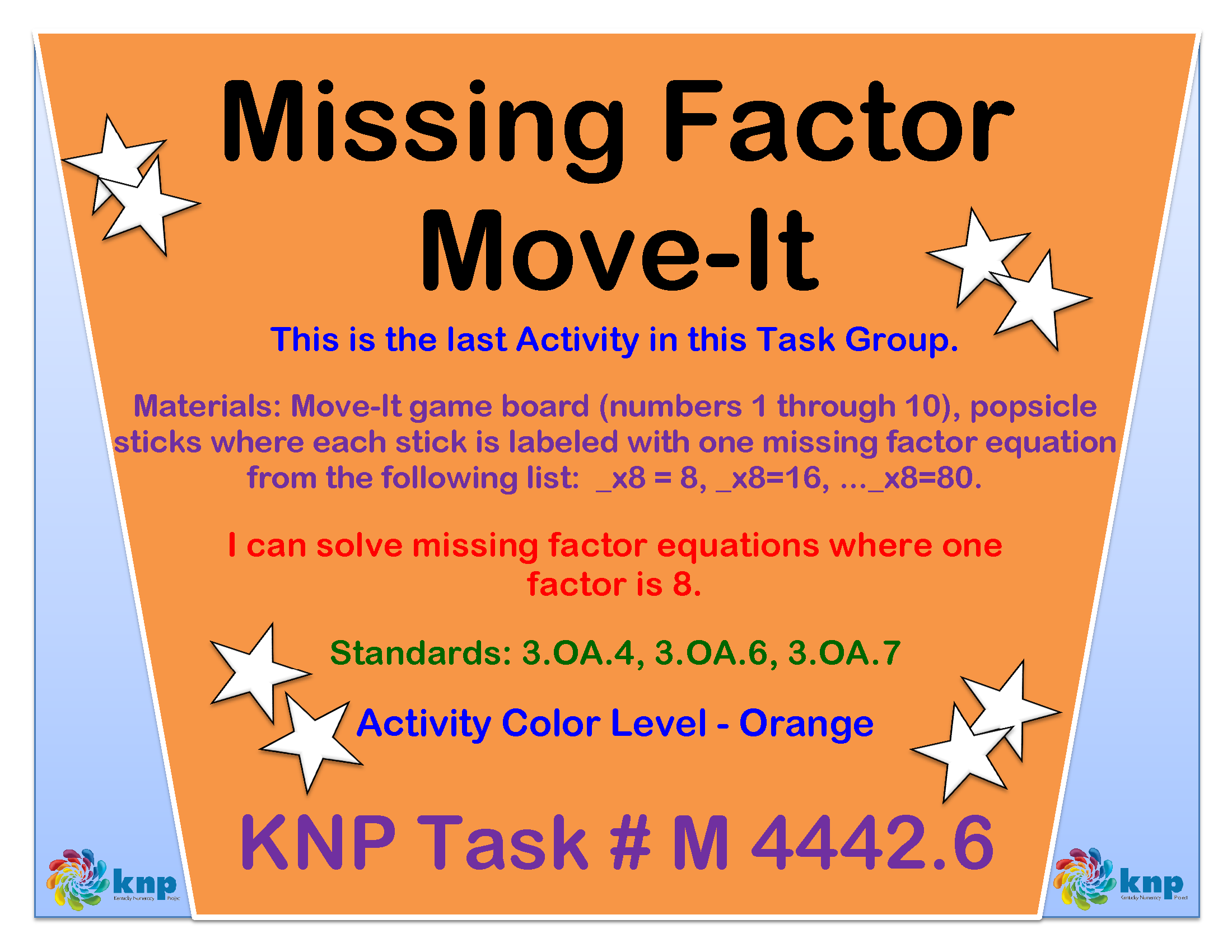 Missing Factor Move It