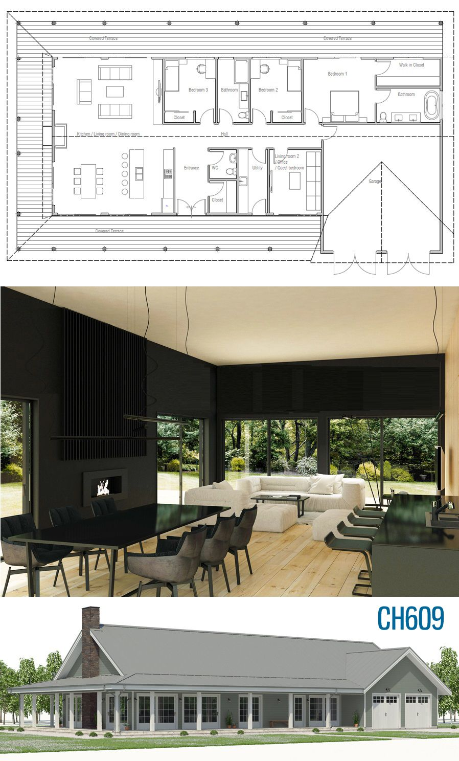 Architectural Design Ch615 House Plans New House Plans Hotel Floor Plan