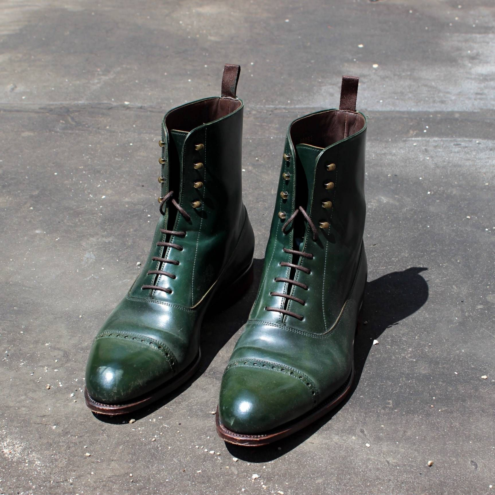 f4f1bce3b47 Carmina Loden Green Shell Cordovan Balmoral Boot | Balmoral Boots ...