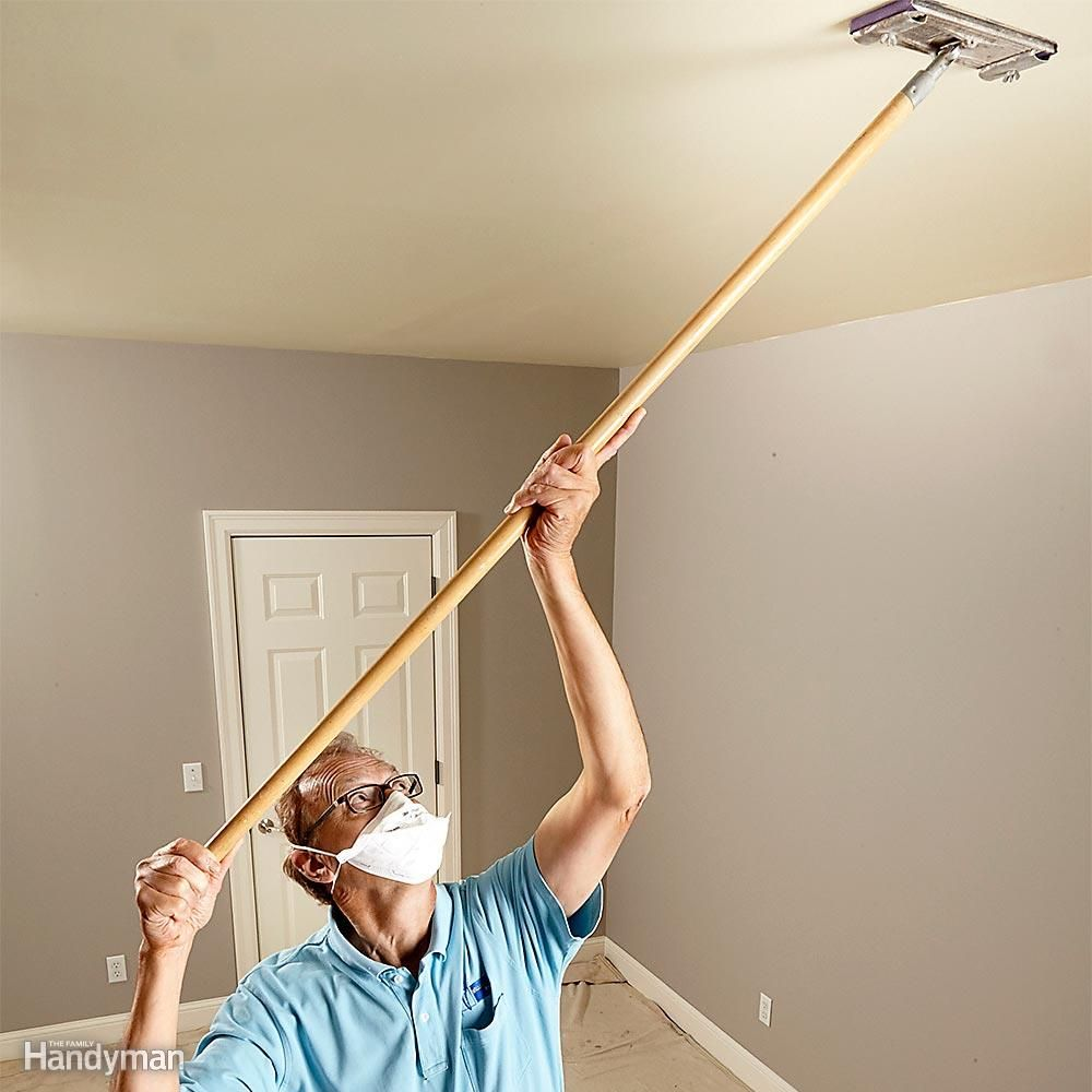 How To Paint A Ceiling Popcorn Ceiling Painting Ceilings Tips