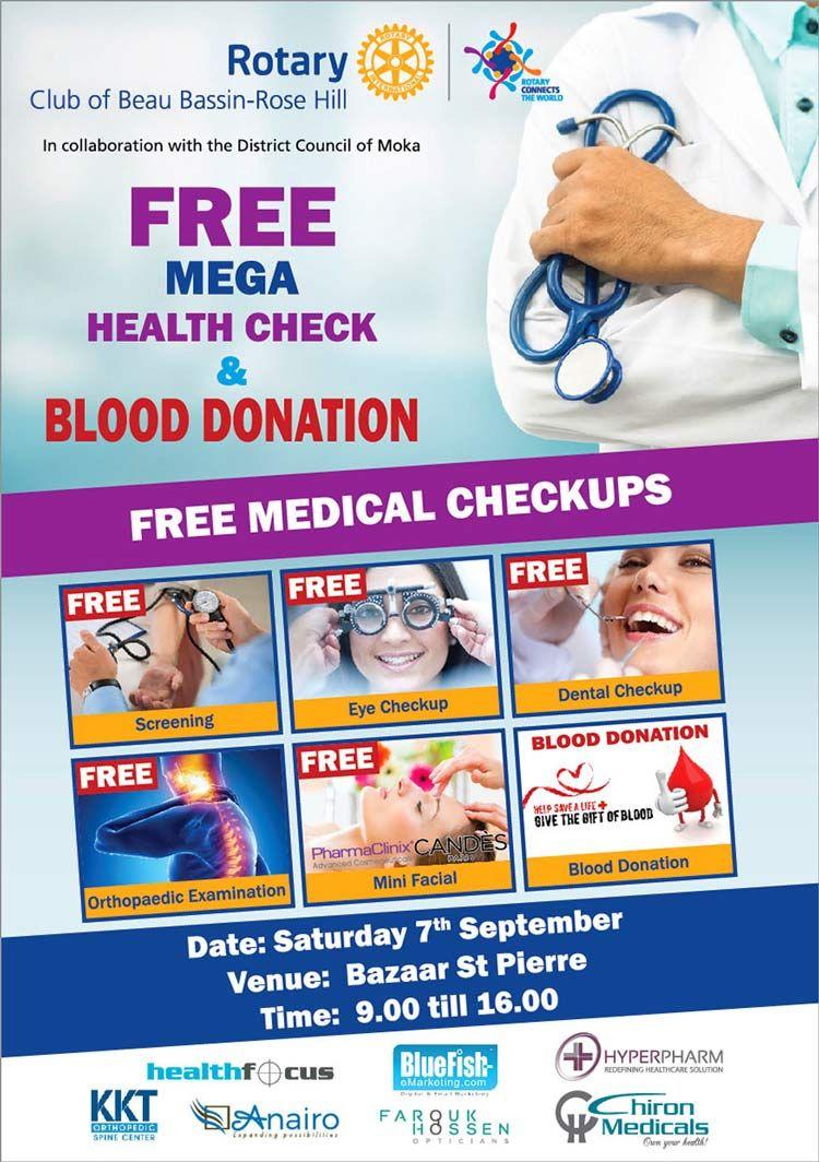 Pin By Bluefish Emarketing Mauritius On Health Beauty Health Check Rotary Club Health