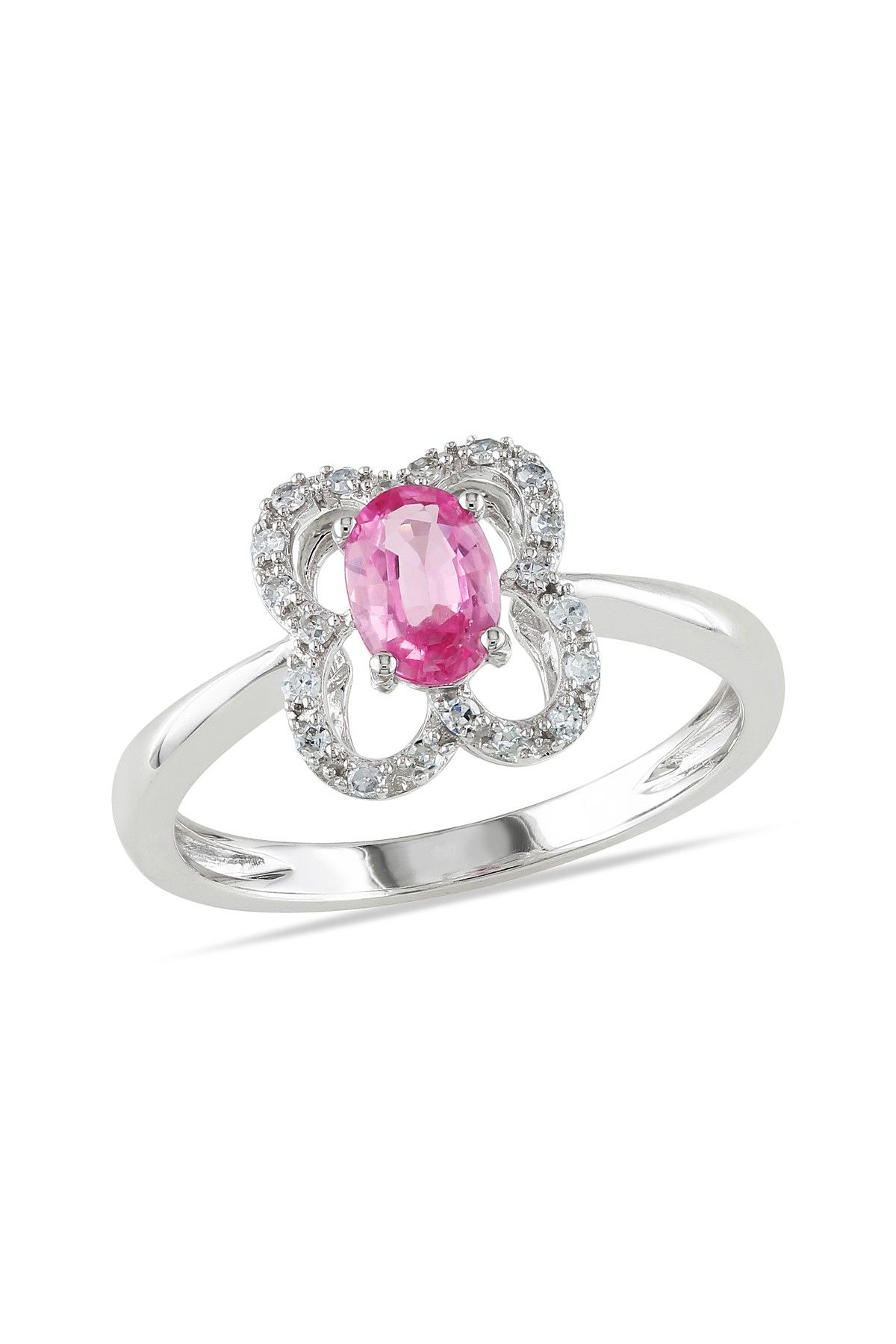 10k White Gold Pink Sapphire Diamond Ring 0 10 Ctw With Images Pink Sapphire Ring Engagement Pink Sapphire Diamond Ring Beautiful Jewelry