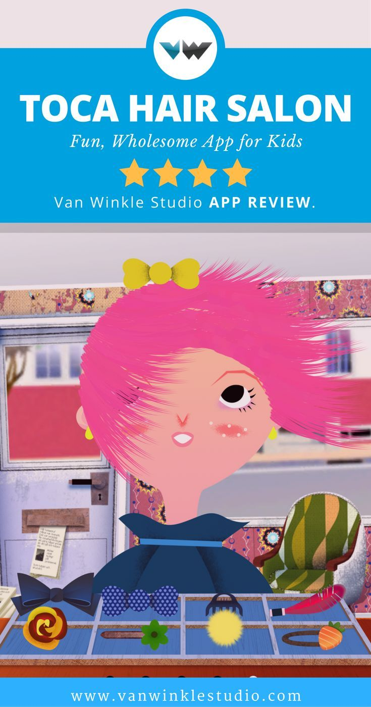 App For Kids Toca Hair Salon — Fun Wholesome App for Kids