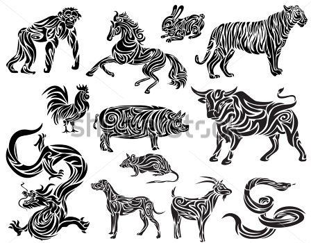 Chinese Zodiac Monkey Tattoo Designs Chinese Zodiac Tattoo Monkey Tattoos Tribal Animal Tattoos