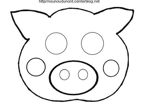 Masque cochon - Dessin d un cochon ...