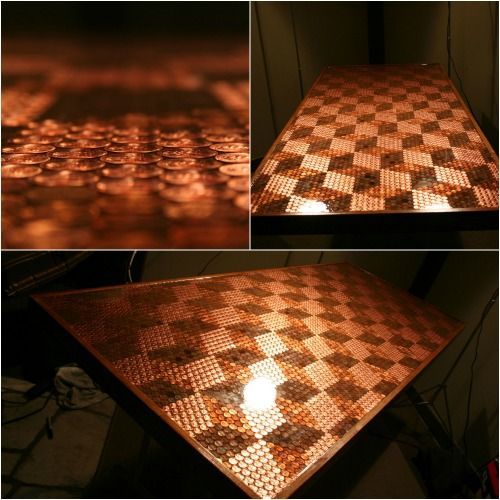 How To Make A Penny Tabletop With 5000 Pennies And Some