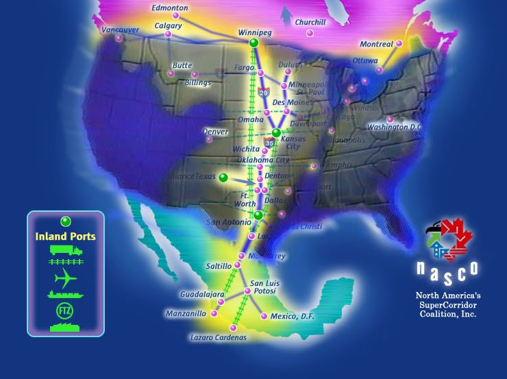 NAFTA Superhighway Will Be Remaining Travel Route According - Map of us after pole shift