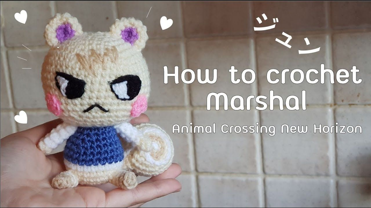 How to crochet marshal squirrel animal crossing new