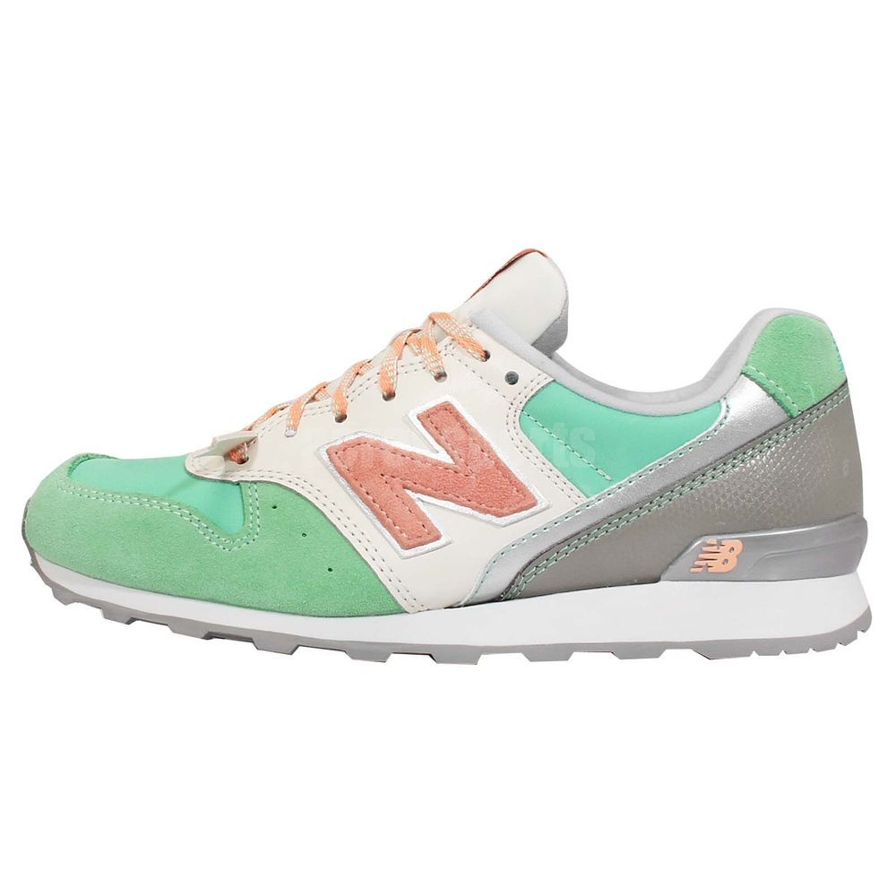 New Balance Wr996em D Mint Green Silver Womens Nb Suede Retro Running Shoes Retro Running Shoes Casual Running Shoes Casual Sneakers