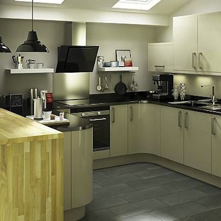 Best Kitchen Compare Com B Q It Santini Gloss Grey Slab 400 x 300