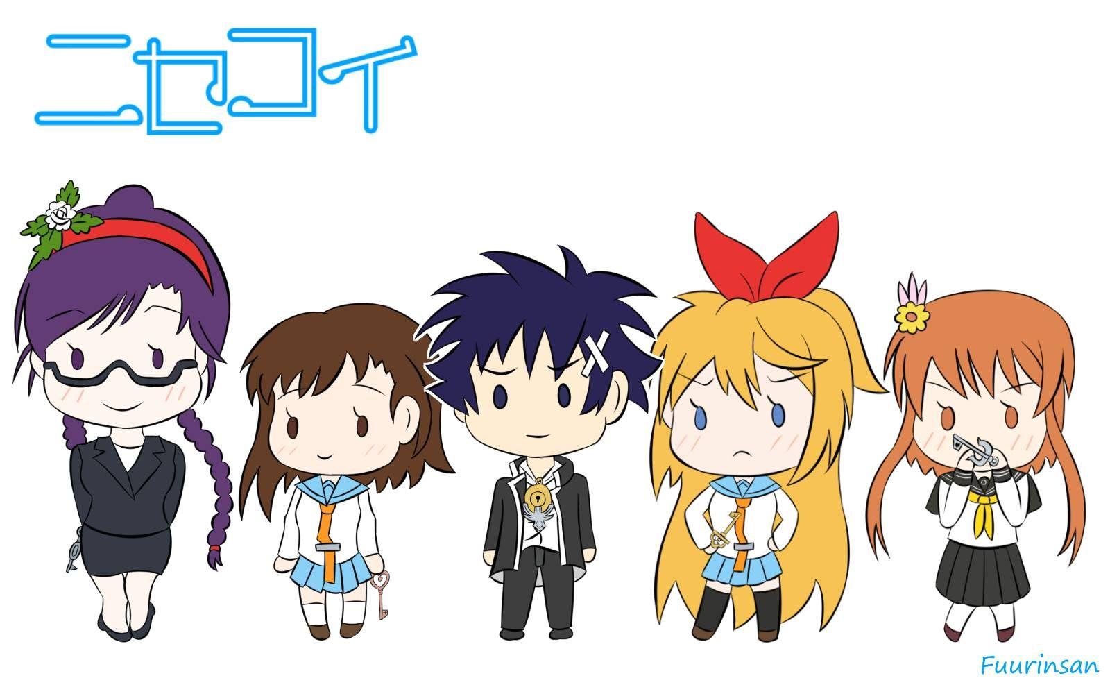 280. Nisekoi (Fake / False Love) Chibi Character Anime