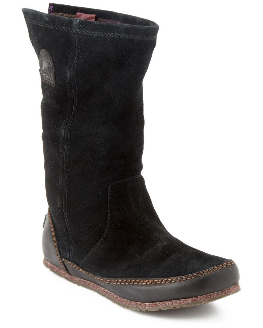 """Sorel """"Yaquina Tall"""" Leather & Suede Boot is on Rue. Shop it now."""